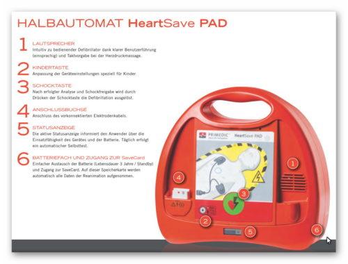 HALBAUTOMAT HeartSave PAD