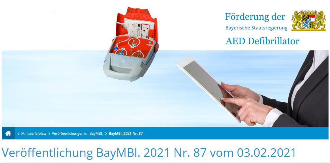 DefibrillatorenStaatliche Förderung